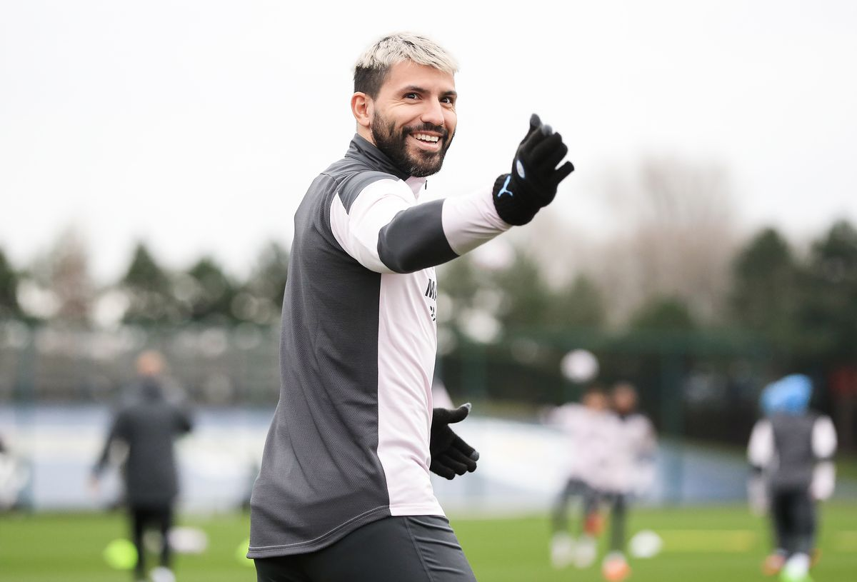 Manchester City - Press Conference And Training Session