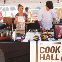 <em>Cook Hall from the W offered a bacon-glazed short rib slider.</em>