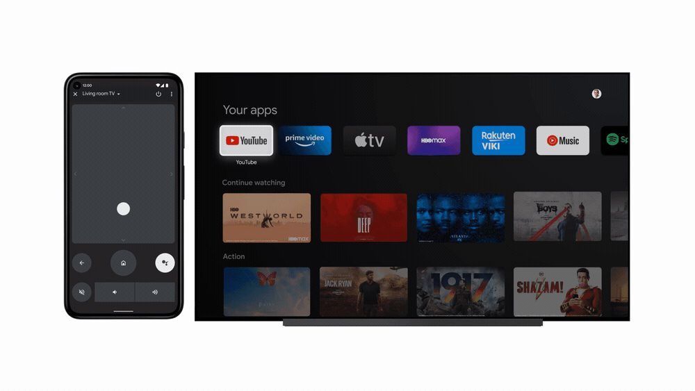 The Android TV remote in Android 12