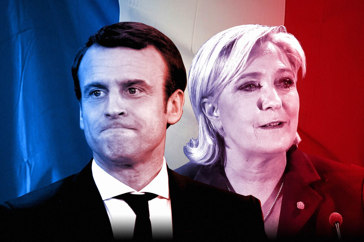 Image result for mary le pen won over makron