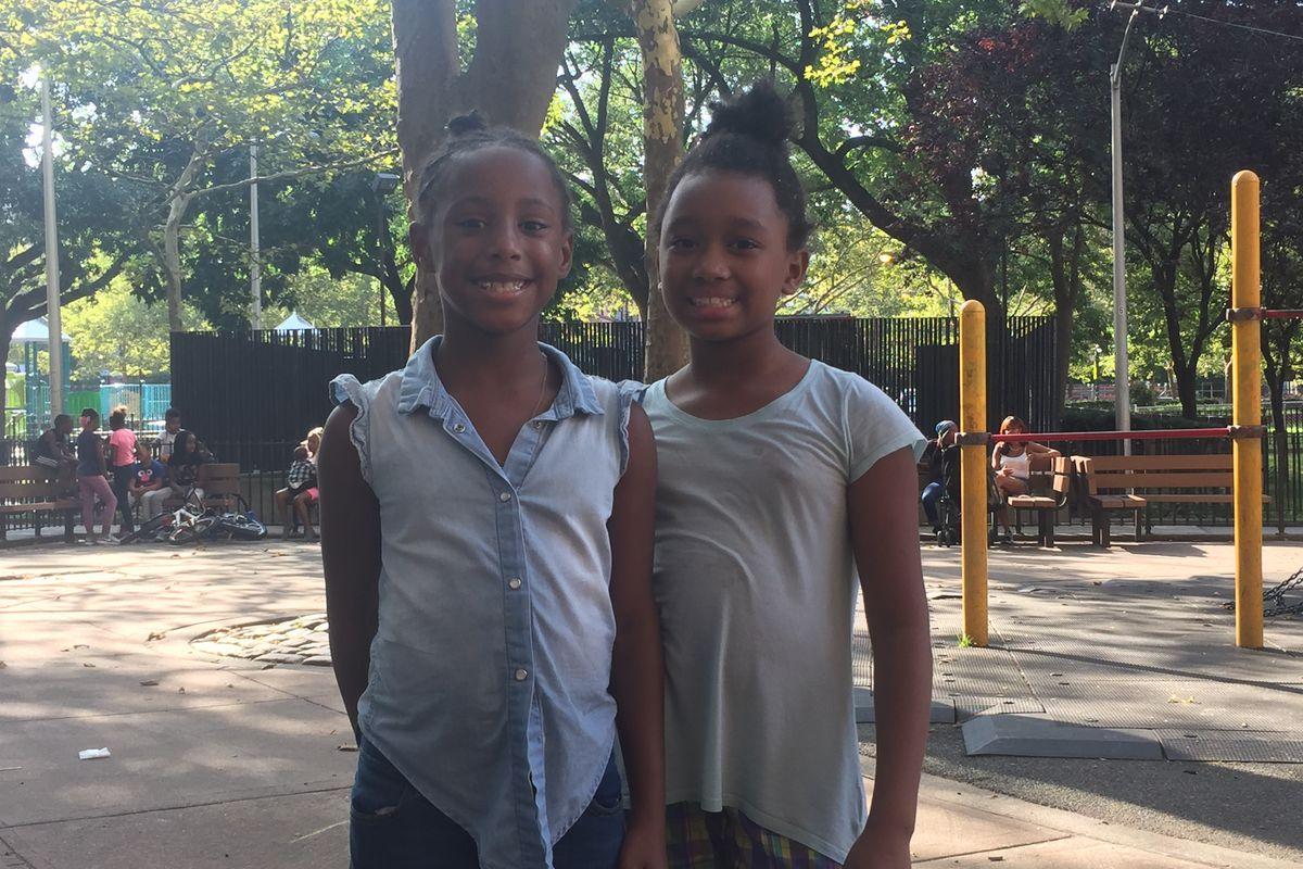 Wynter Johnson and Serenity Ally, two third-grade students at Success Academy Harlem 2