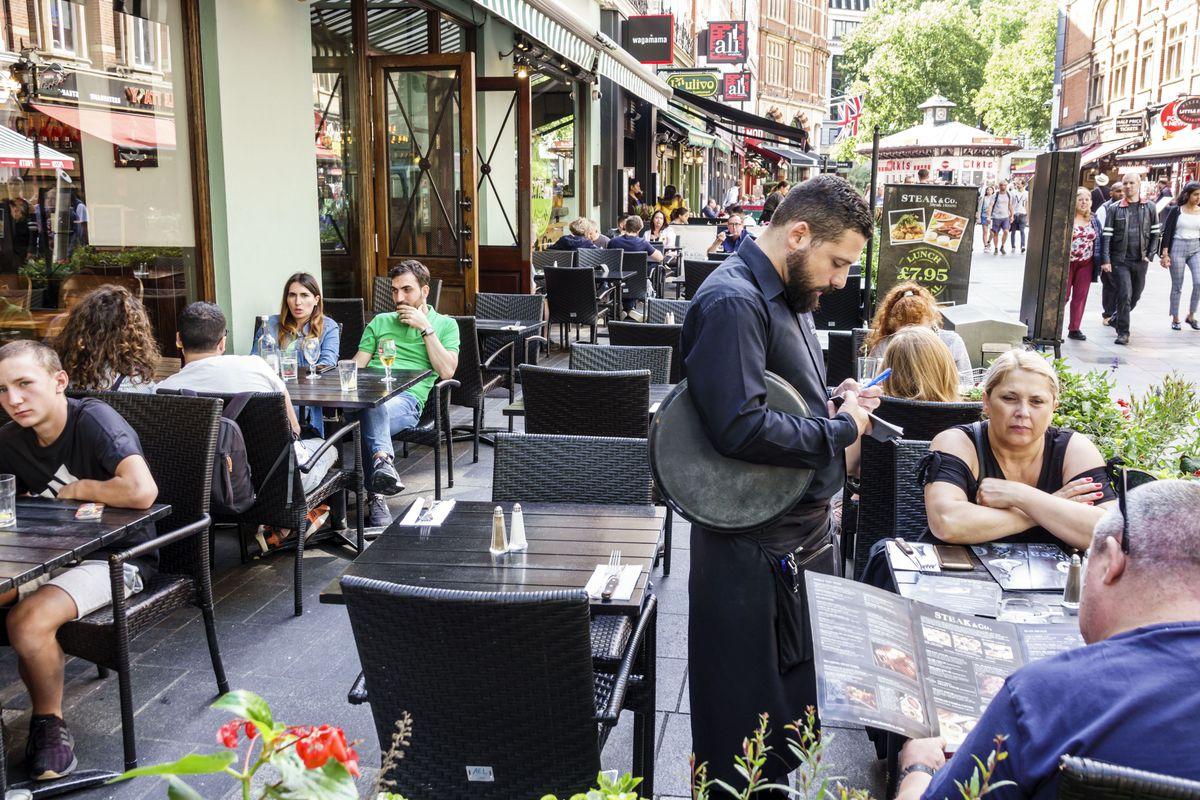London, Leicester Square, Steak & Co. restaurant