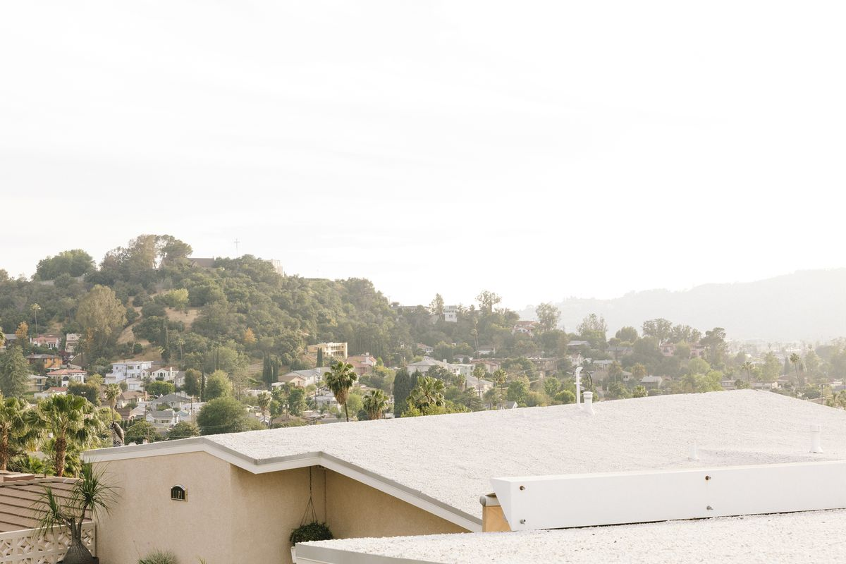 Roofs and houses on hillside