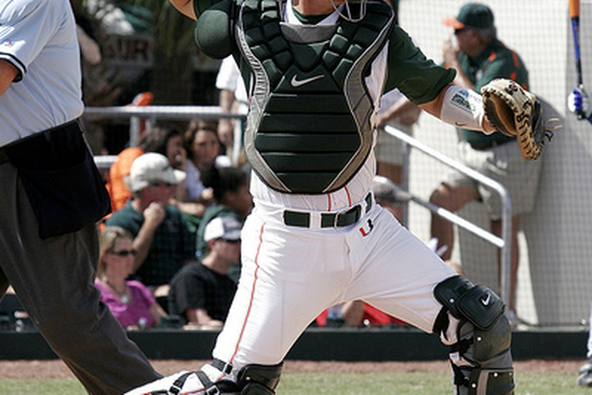Miami's Yasmani Grandal is one of the very best Catchers in College baseball.