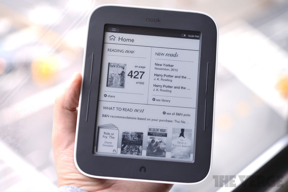 Nook Simple Touch (White) Stock