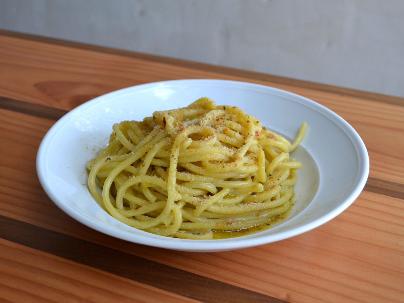 Bigoli pasta at Colapasta