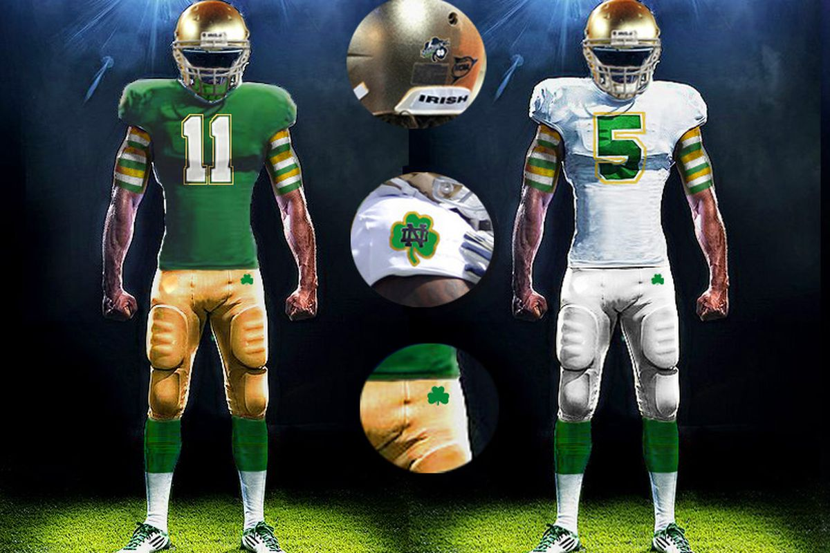 34872c167 Notre Dame Uniform Concepts  The Shamrock Series 2.0 - One Foot Down