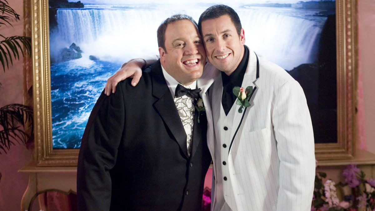I Now Pronounce You Chuck and Larry: Adam Sandler and Kevin James hug