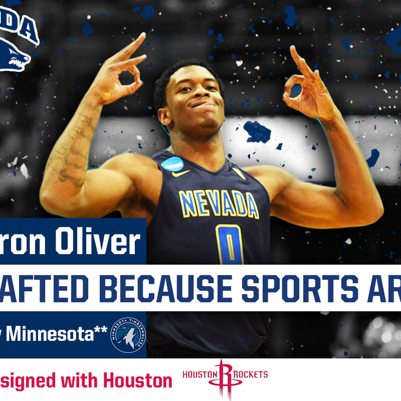 Nevada forward Cameron Oliver signs with Houston Rockets after going  undrafted e752616bc