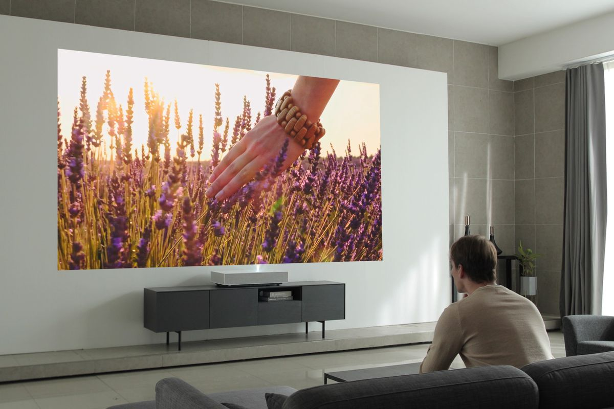 LG's second-gen 4K laser projector works from just two inches away
