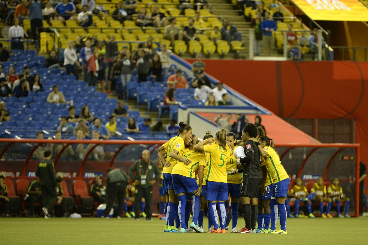 Brazil showed up; the fans did not