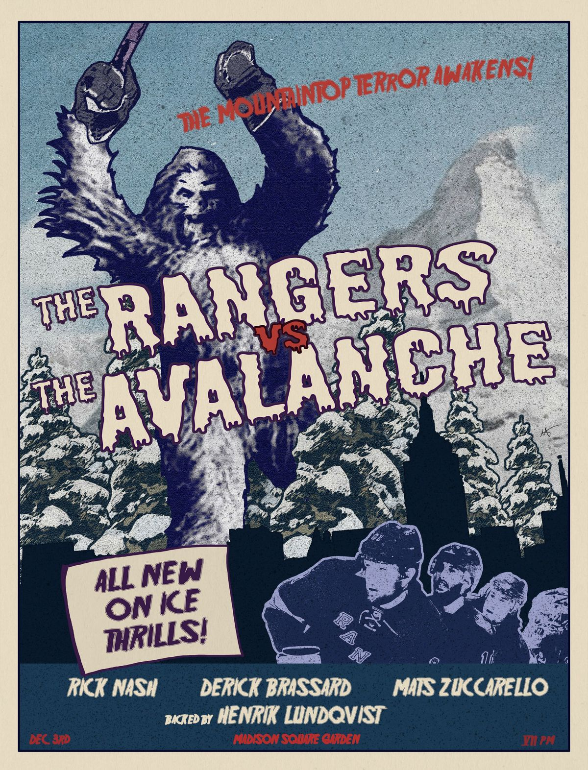 rangers gameday 11-3