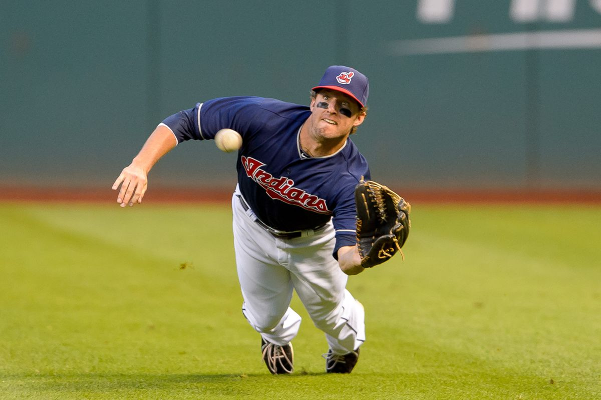 Tyler Holt makes one of the few outstanding defensive plays made in the outfield in 2014