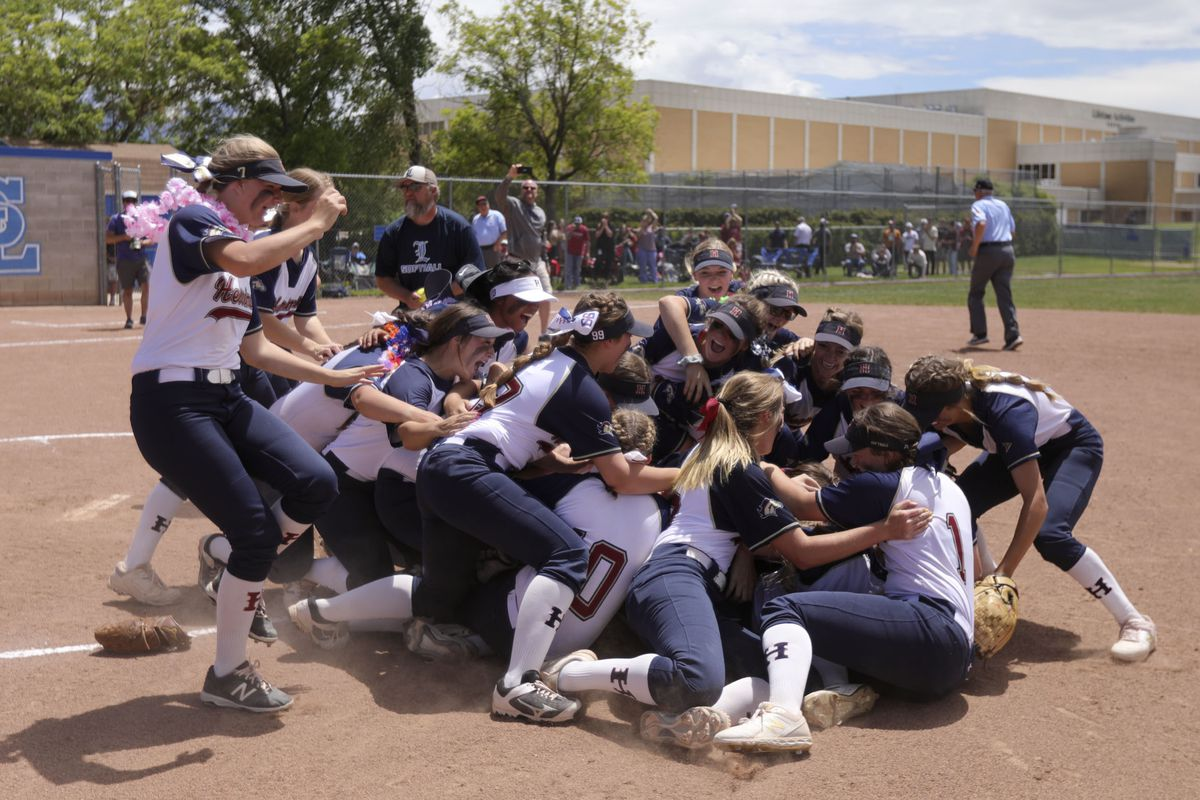 Herriman plays Layton in the 6A softball championships at Salt Lake Community College in Taylorsville on Thursday, May 30, 2019. Herriman won 9-3.