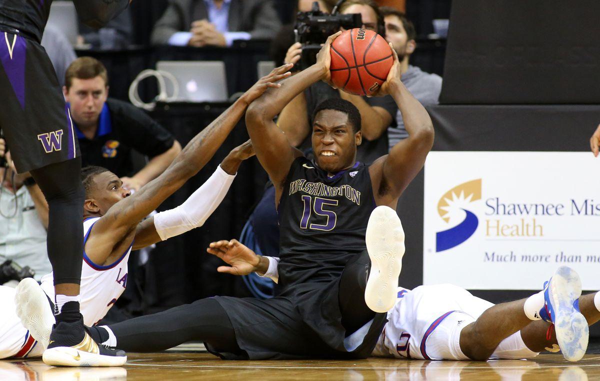 NCAA Basketball: Washington at Kansas