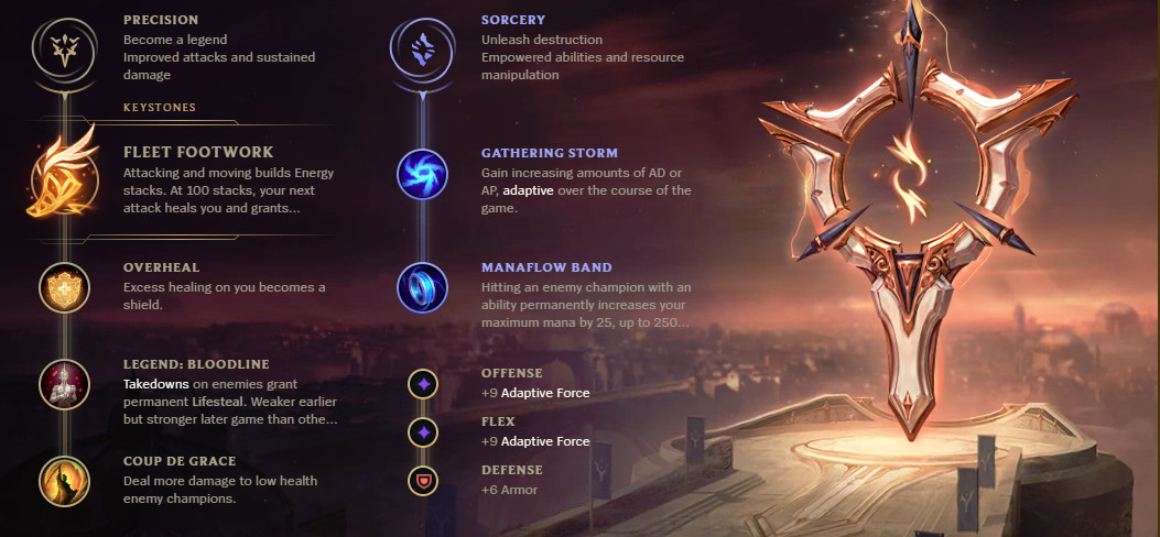 The runes page for Senna, if you're playing her as a marksman