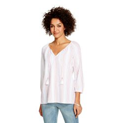 """Peasant blouse, <a href=""""http://www.target.com/p/women-s-dobby-peasant-blouse-merona/-/A-17224611#prodSlot=medium_1_20&term=%22carnival+collection%22"""">$24.99</a>"""