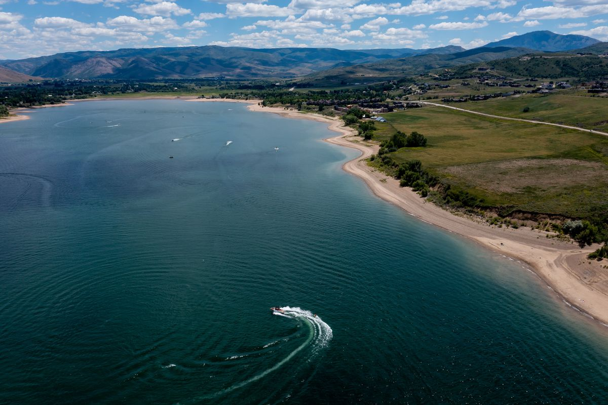 Boaters recreate at Pineview Reservoir near Huntsville, Weber County, on Monday, June 28, 2021.
