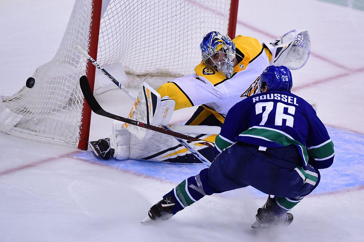 NHL: Nashville Predators at Vancouver Canucks