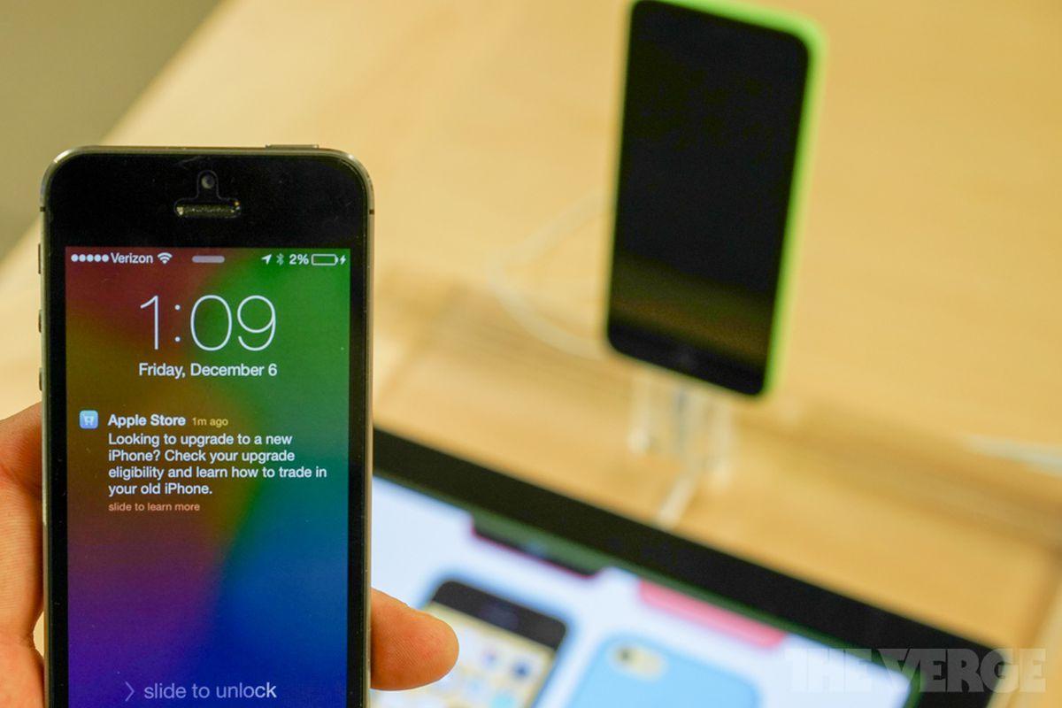 iBeacon iPhone notification