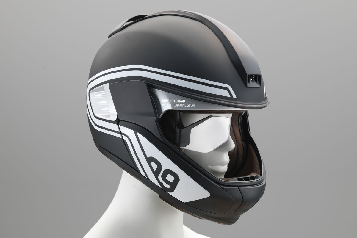 bmw 39 s concept motorcycle helmet has a heads up display the verge. Black Bedroom Furniture Sets. Home Design Ideas