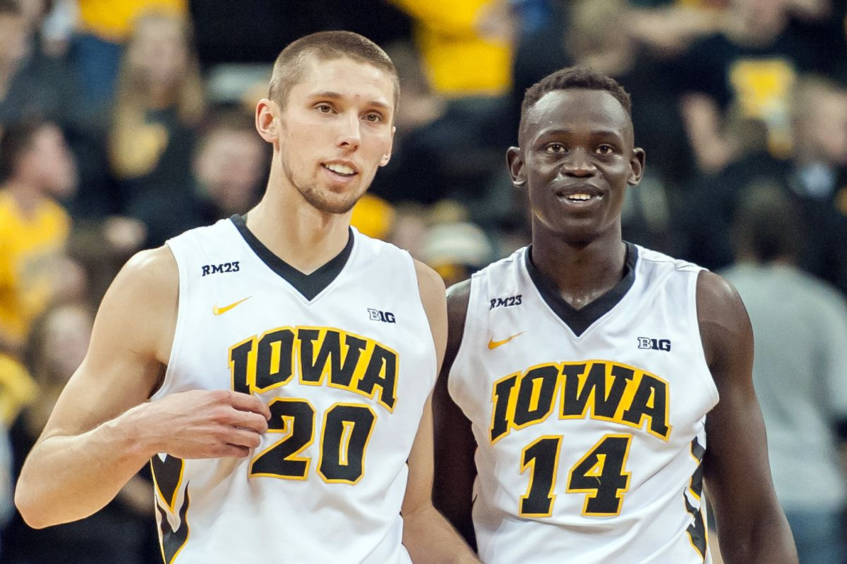 Jarrod Uthoff (20) and Peter Jok (14) have led Iowa to the top of the Big Ten.