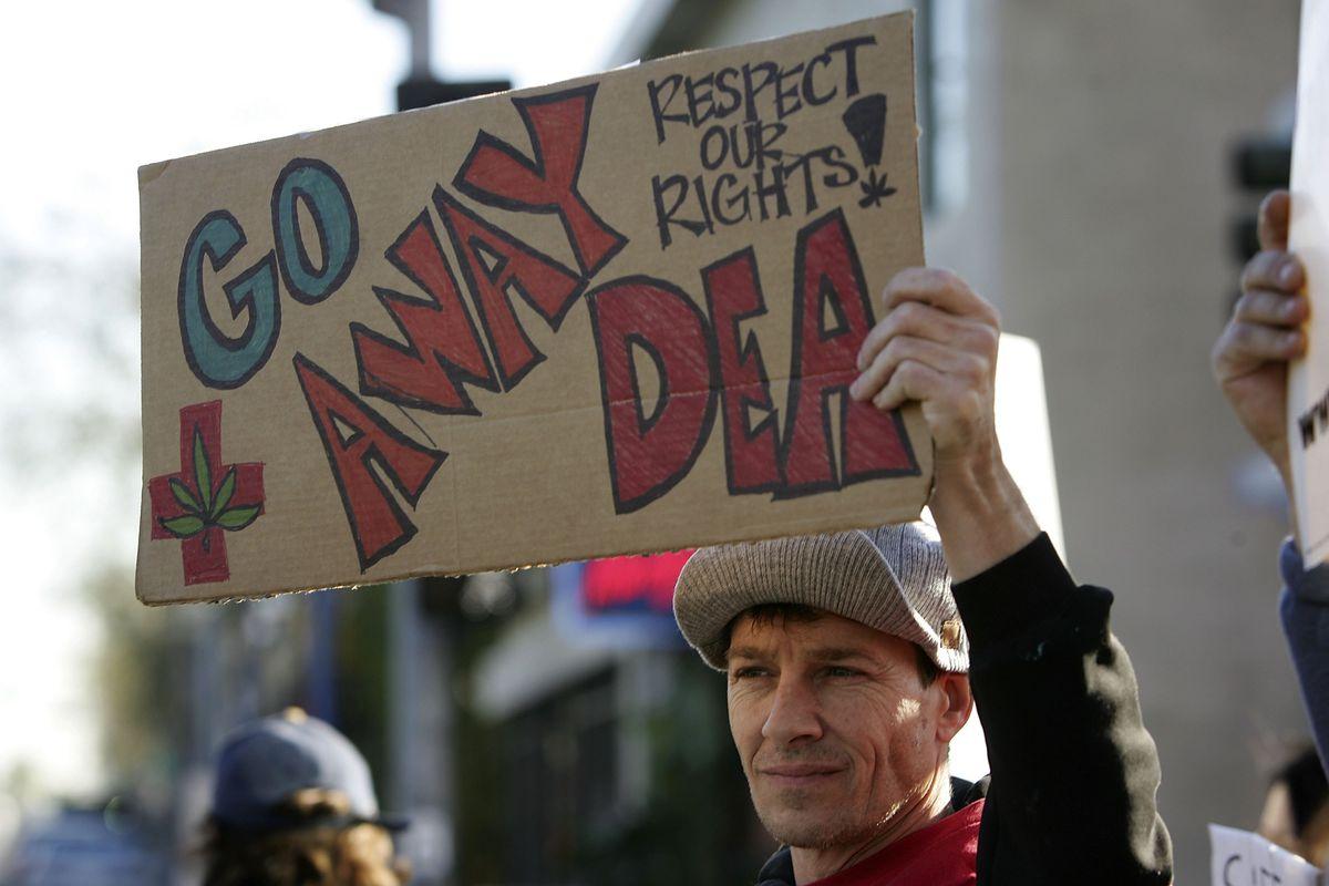 Go away DEA demonstrator
