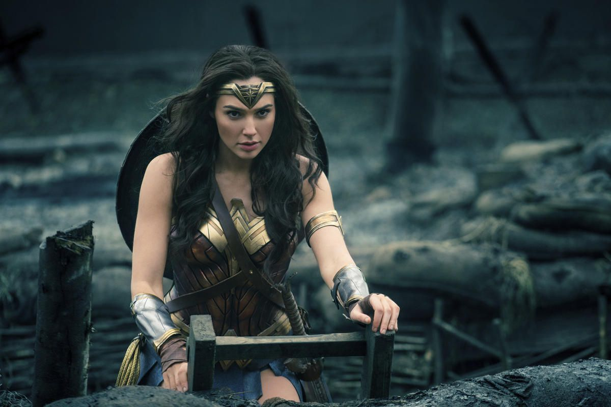 "Gal Gadot in a scene from ""Wonder Woman."""