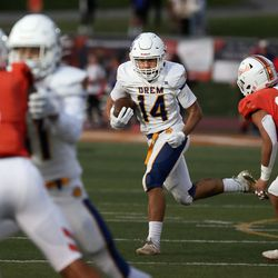 Timpview competes against Orem in a high school football game at Timpview High inProvo on Thursday, Sept. 30, 2021.