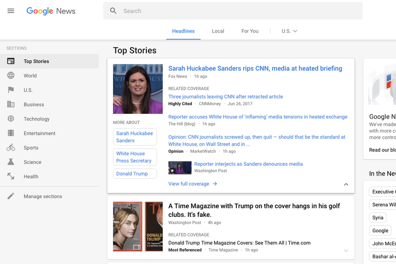 google news gets a much needed redesign to cut down on clutter and confusion