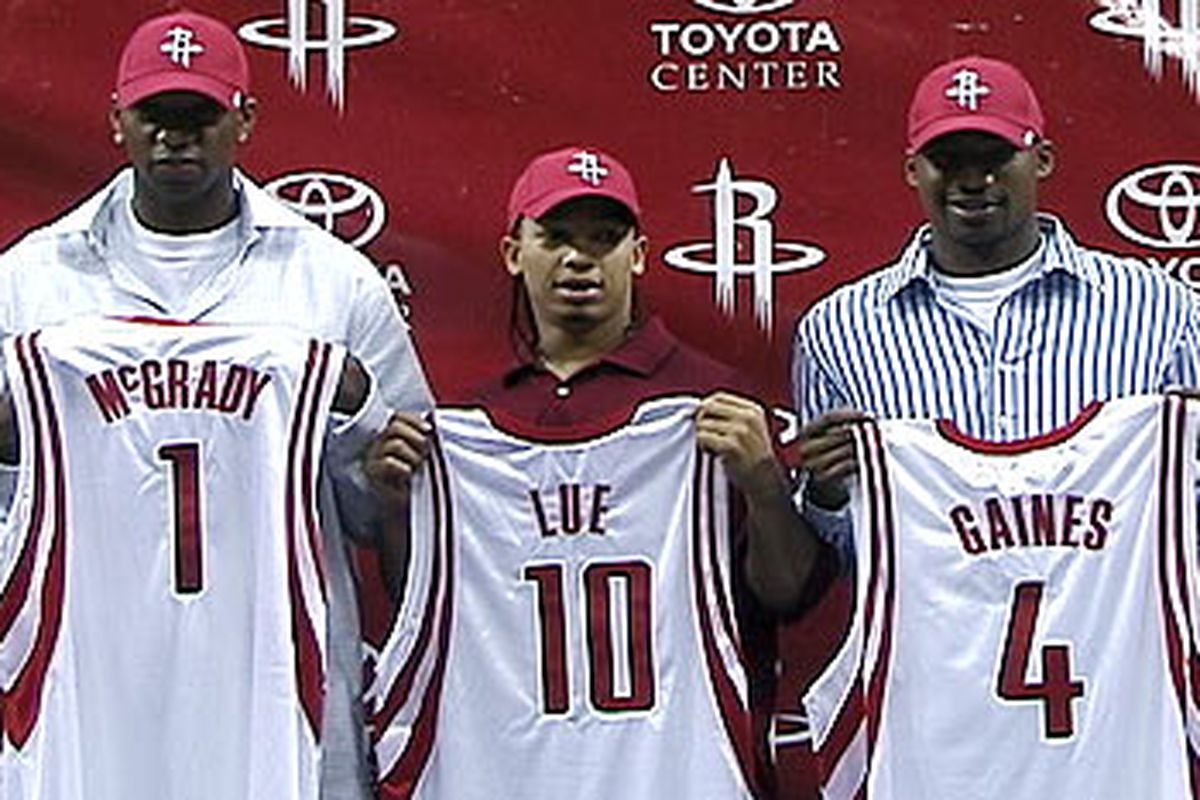 Good ol' Reece Gaines. And Tyronn Lue.  I cut out Tracy McGrady.  Out of the picture, not out of my life.  He's on his way out of my fantasy team lineup. And his own teams lineup.
