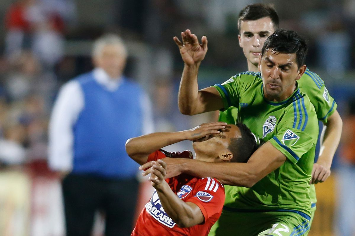 Barrios slaps himself in the face for reasons unknown
