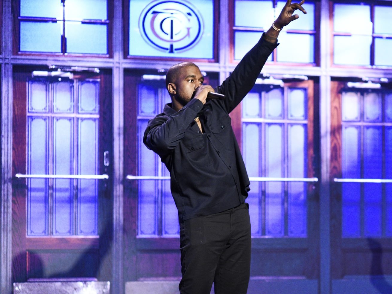 Kanye West performing on Saturday Night Live on September 29. West was criticized for saying on Twitter that the 13th Amendment should be abolished; he later walked back those comments.