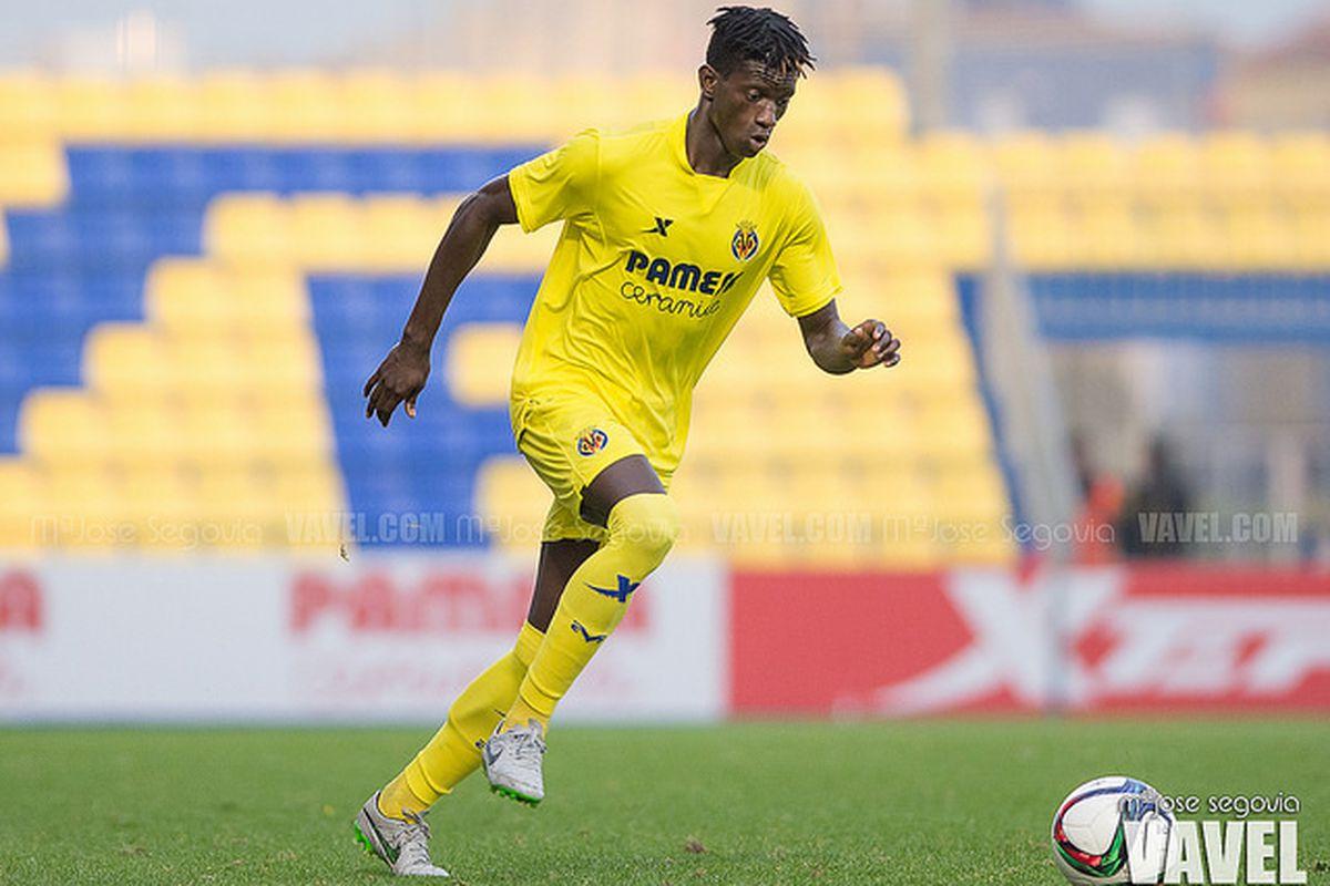 Edgar Ié in action for Villarreal B