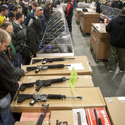 An huge variety of firearms and other weapons were available for sale to entrants at the South Towne Expo Center during the 2013 Rocky Mountain Gun Show, Saturday, Jan. 5, 2013.