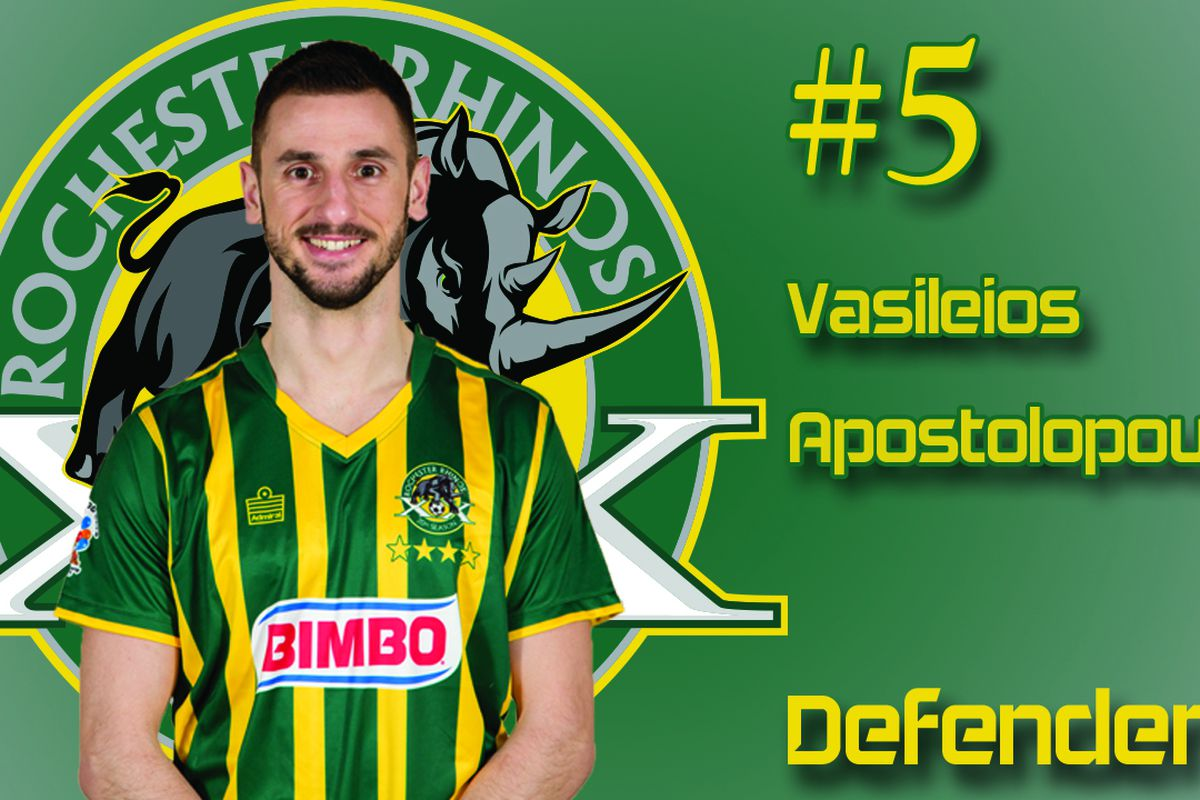 With his first goal for the Rhinos, Vasili Apostolopoulos sent Rochester to the USL Final