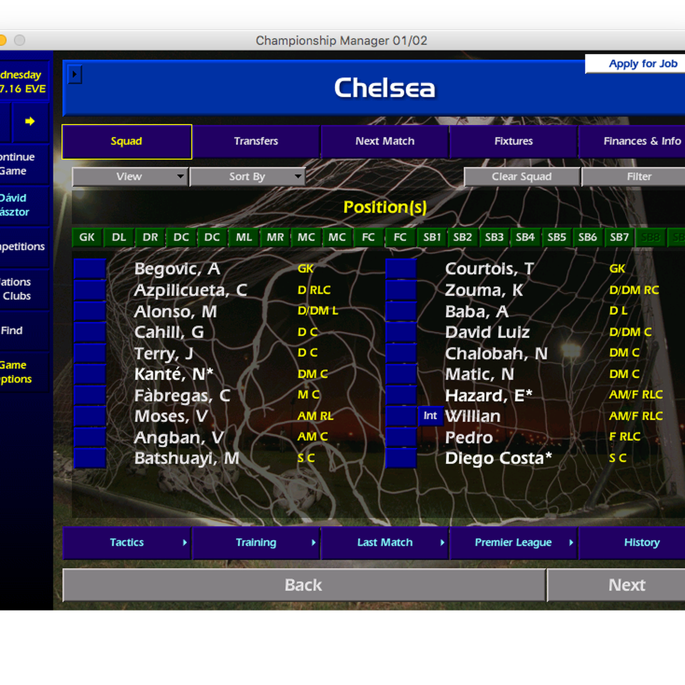 The Daily Hilario: Guide to running Championship Manager 01