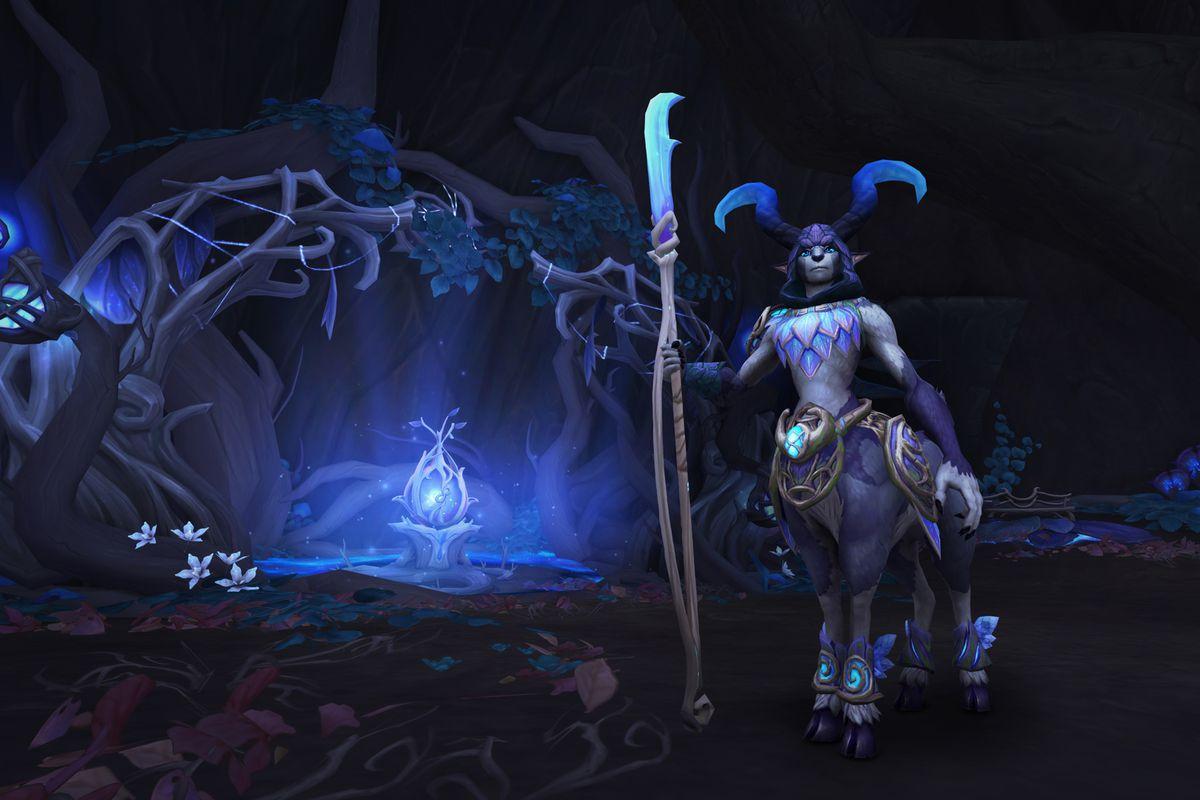 World of Warcraft - a faun sands guard in Ardenweald