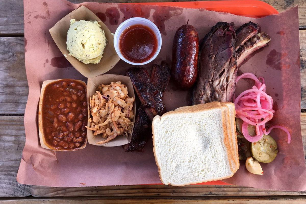 Smoked meats from La Barbecue