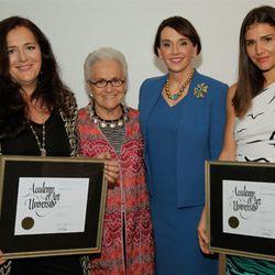 Angela Missoni, Rosita Missoni, Elisa Stephens president of Academy of Art University, and Margherita Maccapani Missoni