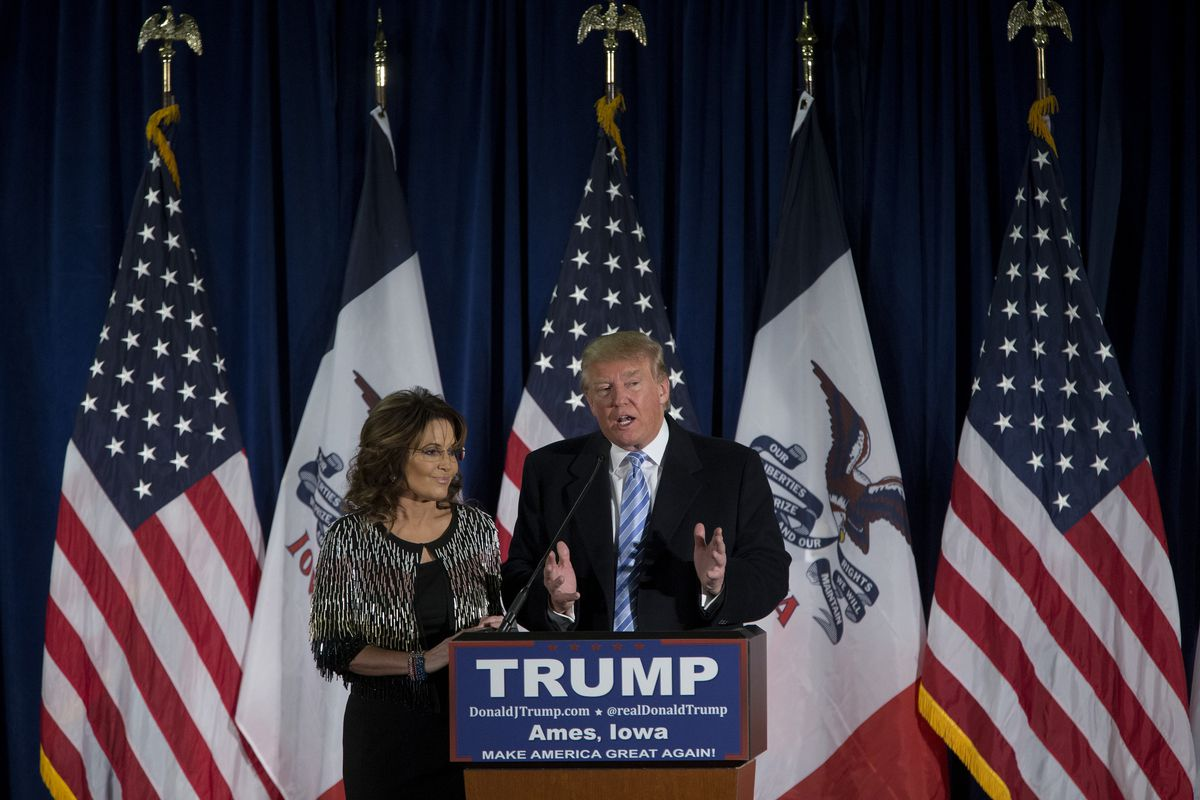 The Republican Party's two reality stars make a joint appearance.