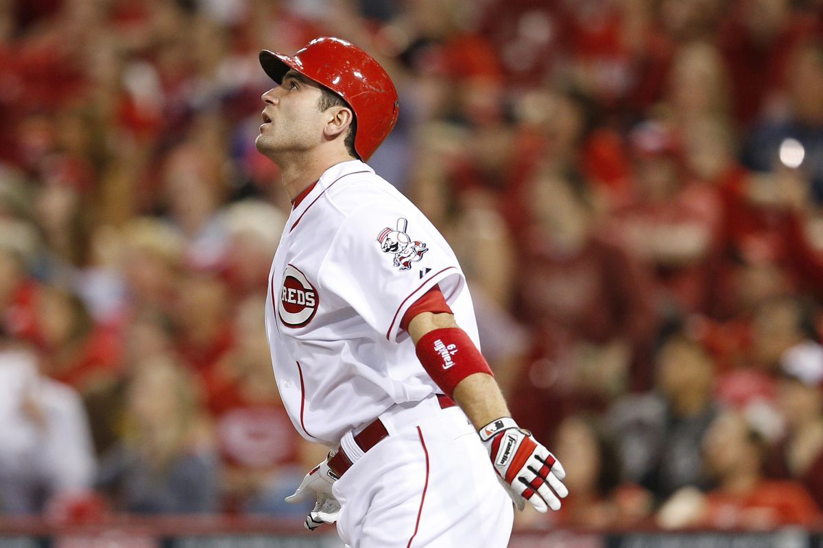 Pictured: Joey Votto not walking