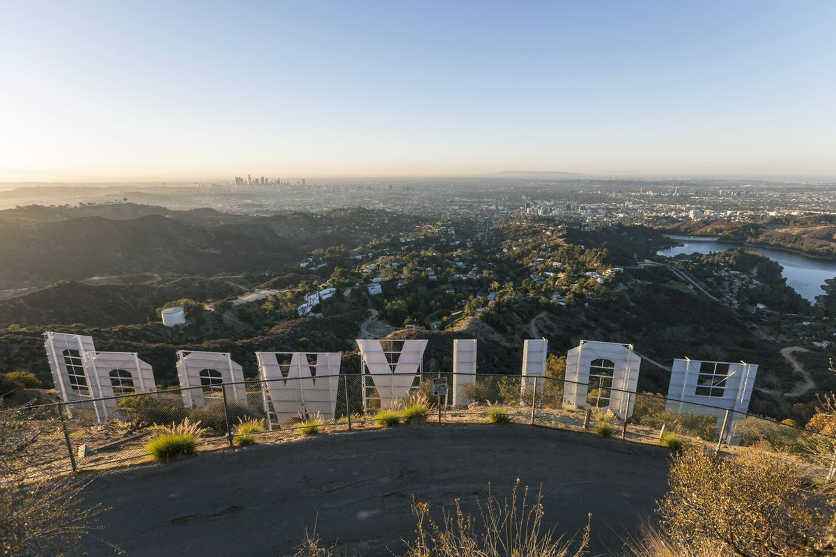 Back of the Hollywood Sign
