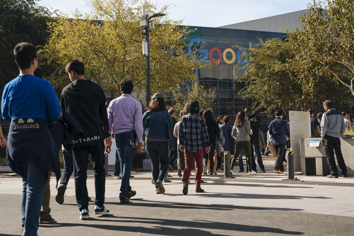 Google employees walked out of their office building to protest the company's handling of sexual misconduct claims.
