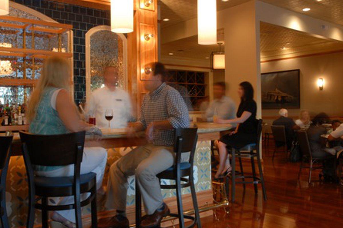 Inside Café B.