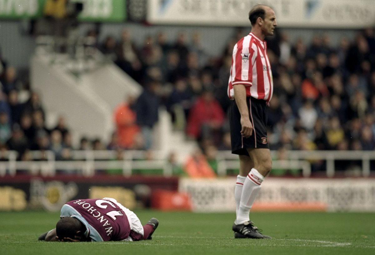 Paulo Wanchope and Steve Bould
