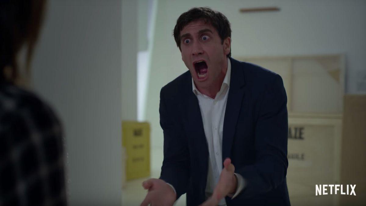 Jake Gyllenhaal shouting in 'Velvet Buzzsaw'