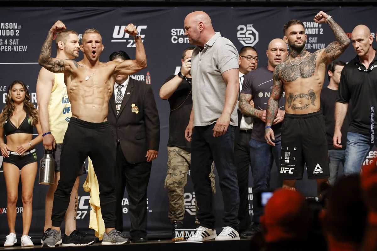 UFC 227 start time, TV schedule for T.J. Dillashaw vs. Cody Garbrandt 2
