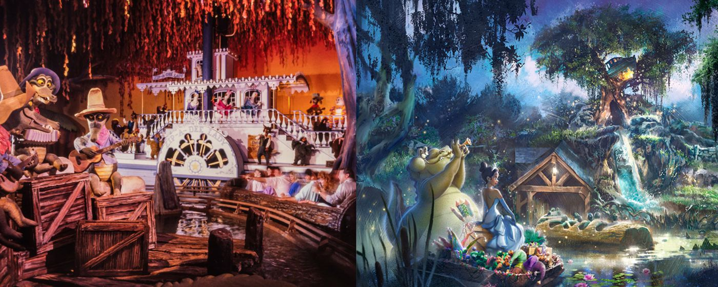 princess and the frog ride concept