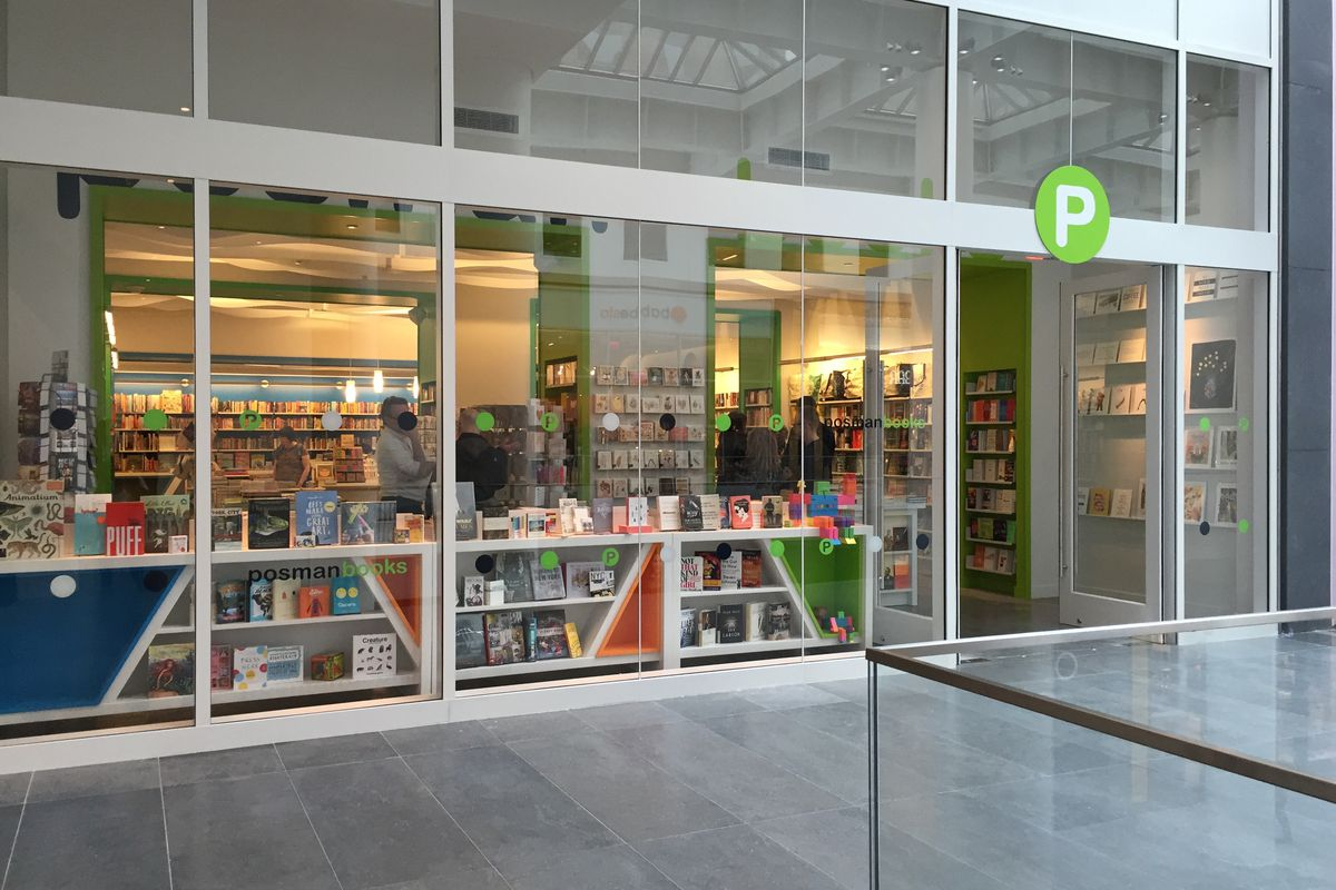 The bookstore on the mall's opening day in March